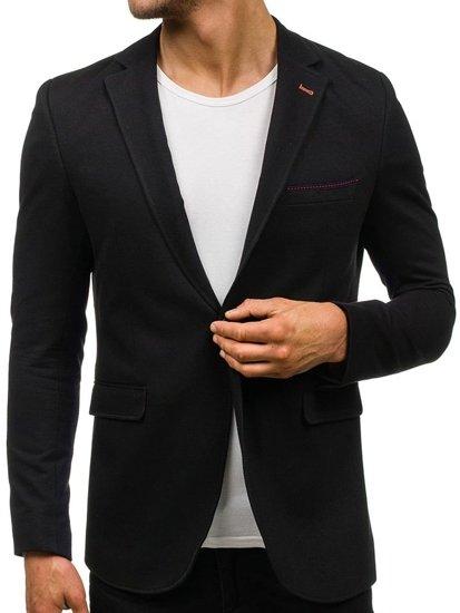 Černé pánské elegantní sako Bolf 406