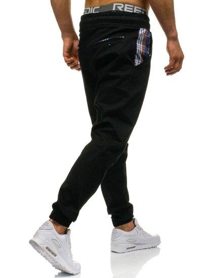 Černé pánské jogger kalhoty Bolf 0449