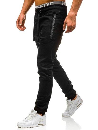 Černé pánské jogger kalhoty Bolf 0803