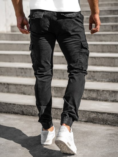 Černé pánské jogger kapsáče Bolf CT6705