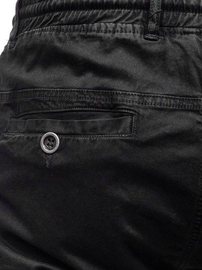 Černé pánské kapsáčové kraťasy Bolf 5011
