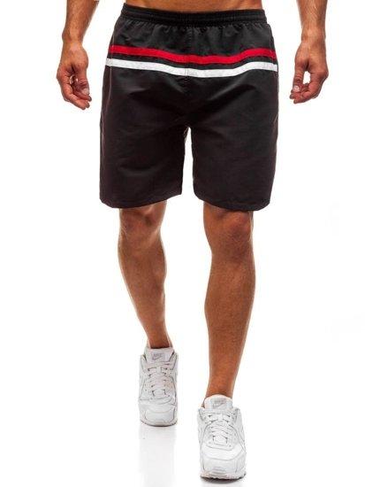 Černé pánské koupací šortky Bolf Y765