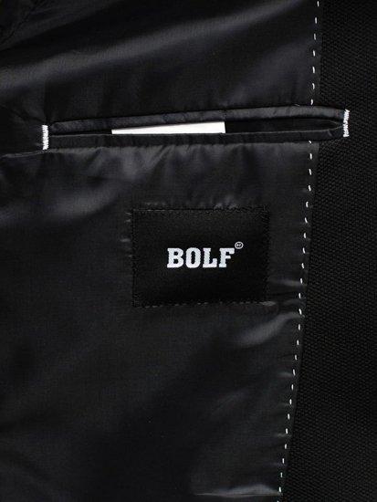Černé pánské ležérní sako Bolf 089