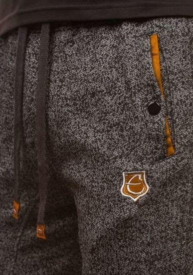 Černé pánské teplákové kraťasy Bolf 120A