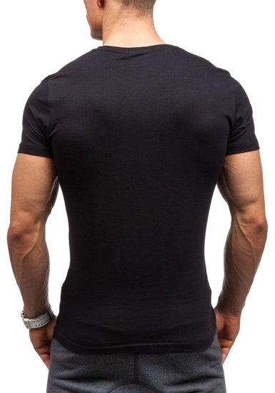 Černé pánské tričko Bolf 7432