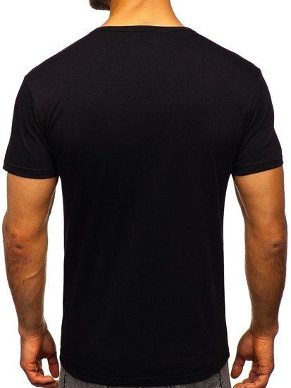 Černé pánské tričko s potiskem Bolf JS1856