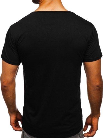 Černé pánské tričko s potiskem Bolf KS1946