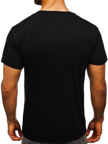 Černé pánské tričko s potiskem Bolf KS1951