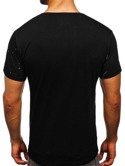 Černé pánské tričko s potiskem Bolf SS11015