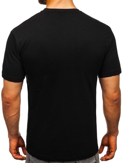 Černé pánské tričko s potiskem Bolf T003