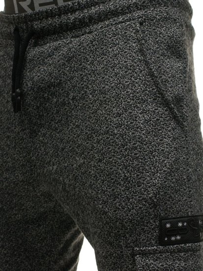Černo-šedé pánské teplákové kapsáče Bolf 0928-8