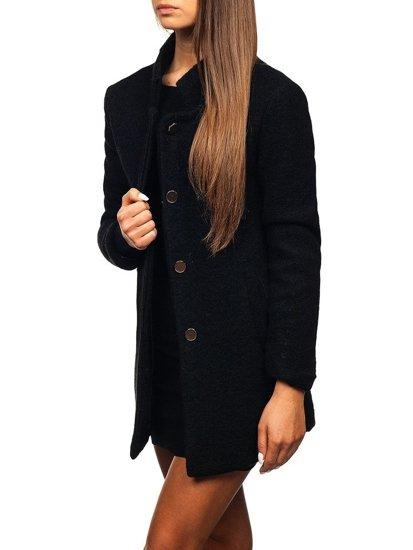 Černý dámský kabát Bolf 1950