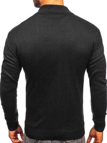 Černý pánský propínací svetr Bolf 0003