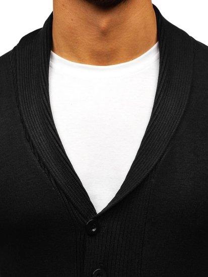 Černý pánský propínací svetr Bolf 88101