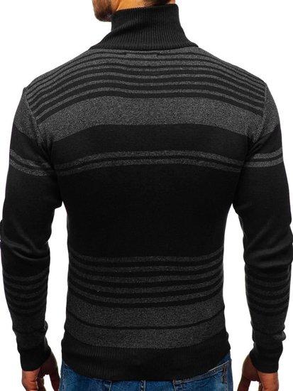 Černý pánský propínací svetr Bolf BM6132