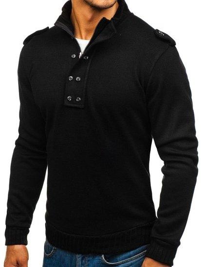Černý pánský svetr Bolf 1132