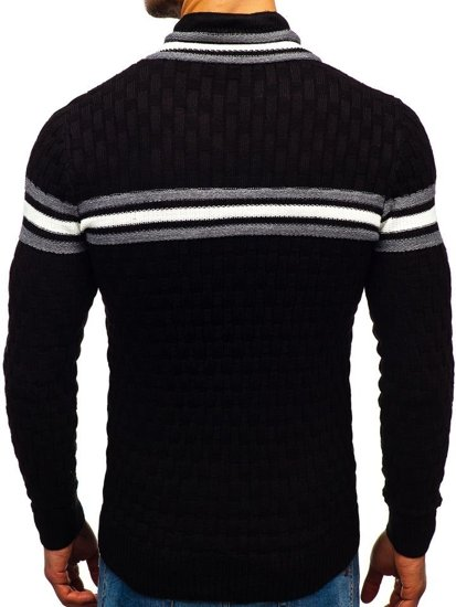 Černý pánský svetr Bolf 6006