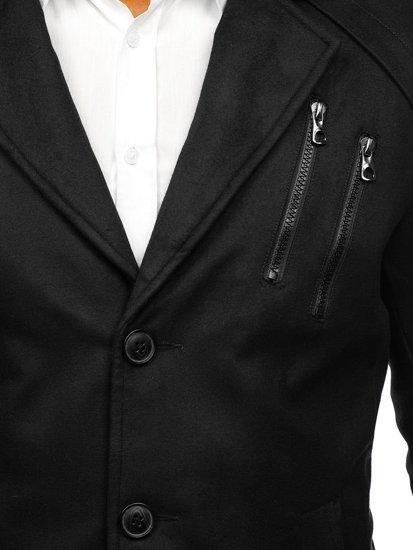 Černý pánský zimní kabát Bolf 3135 a3ea1a80266