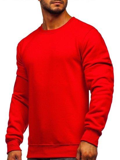 Červená pánská mikina bez kapuce Bolf 2001