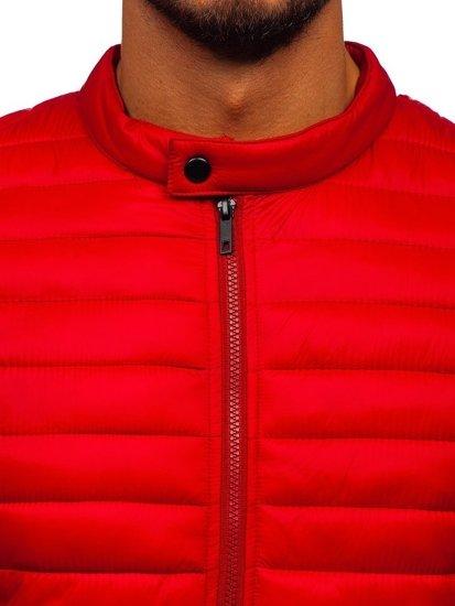 Červená pánská prošívaná zimní bunda Bolf 1138