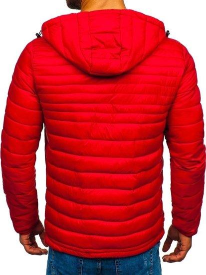 Červená pánská sportovní přechodová bunda Bolf LY1012