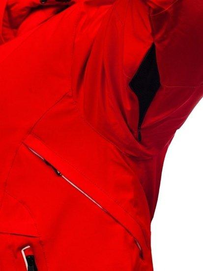 Červená pánská zimní lyžářská bunda Bolf 1910