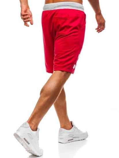 Červené pánské teplákové kraťasy Bolf EX06-1