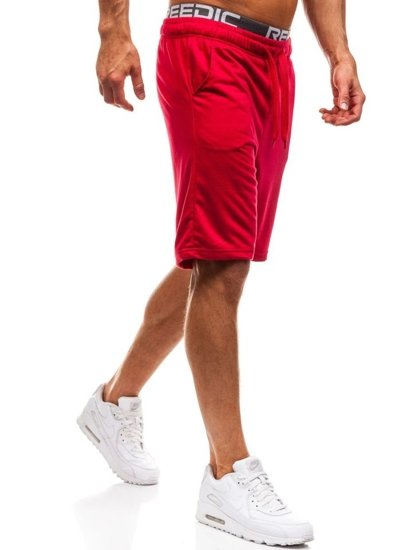 Červené pánské teplákové kraťasy Bolf KK301