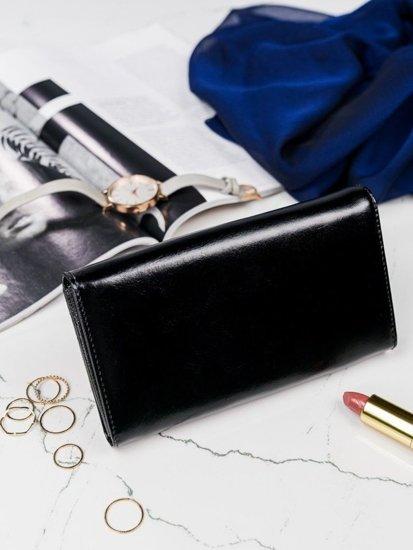 Dámská černá kožená peněženka 2977