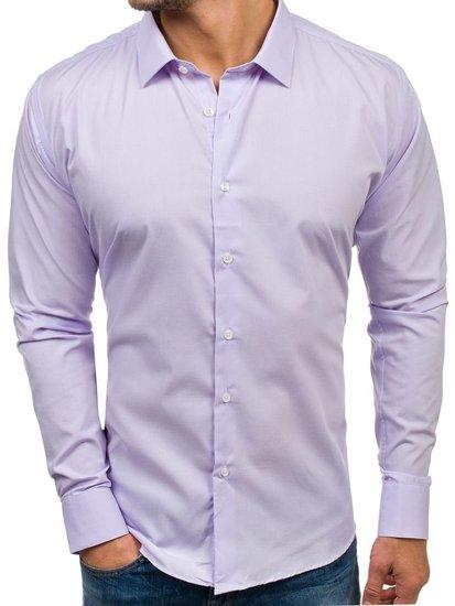 Fialová pánská elegantní košile s dlouhým rukávem Bolf TS100 04784a6bba