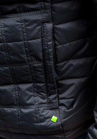 Grafitová pánská přechodná bunda Bolf m503