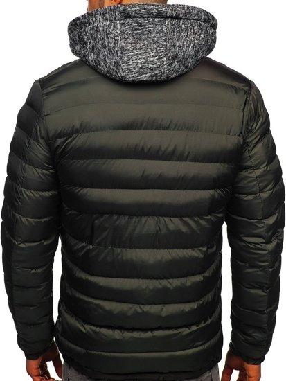 Grafitová pánská sportovní zimní bunda Bolf 50A171