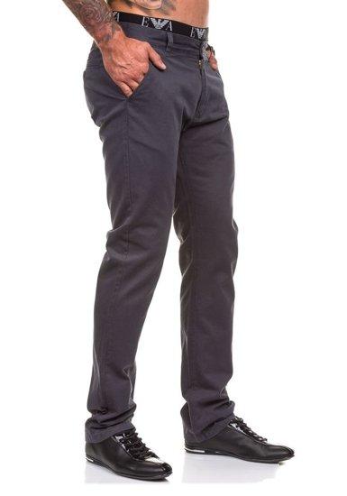 Grafitové pánské chinos kalhoty Bolf 570