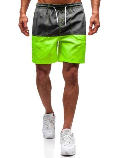 Grafitové pánské koupací šortky Bolf 310