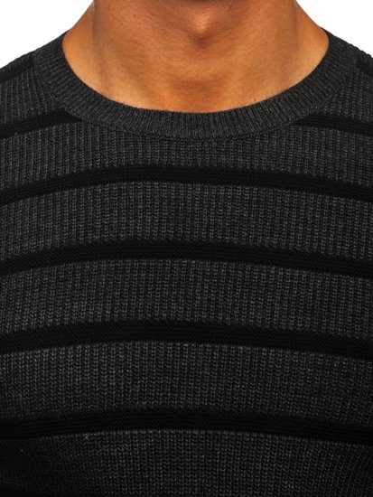 Grafitový pánský svetr Bolf 4356