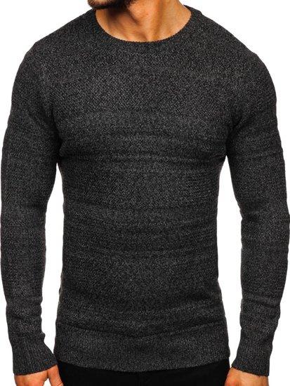Grafitový pánský svetr Bolf H1926