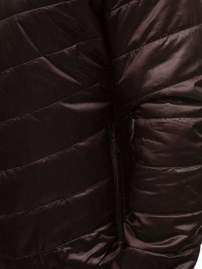 Hnědá pánská sportovní přechodová bunda Bolf 138