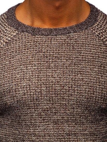 Hnědý pánský svetr Bolf H1932