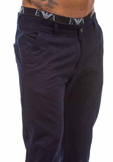 Inkoustově modré pánské chinos kalhoty Bolf 570