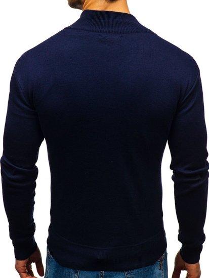 Inkoustově modrý pánský svetr Bolf BM6043