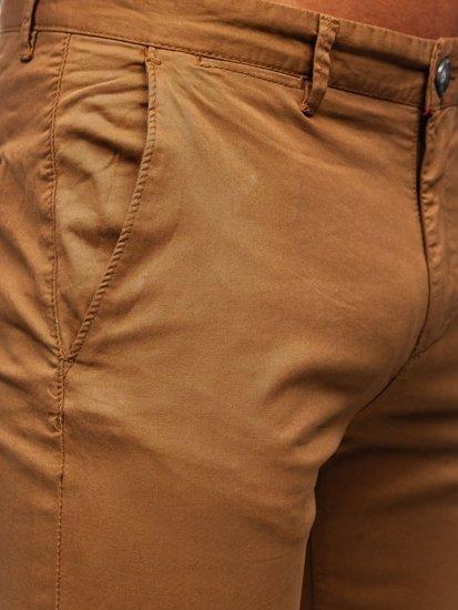 Kamelové pánské chino kalhoty Bolf 1146