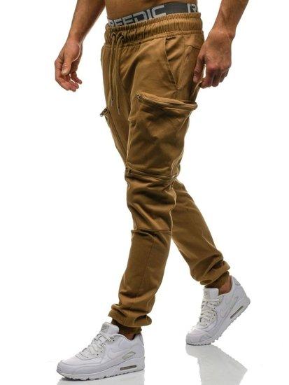 Kamelové pánské jogger kapsáče Bolf 0475