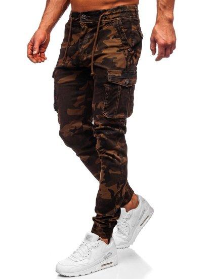 Kamelové pánské maskáčové jogger kapsáče Bolf CT6019