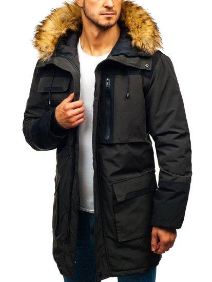 Khaki pánská zimní bunda Bolf 201817