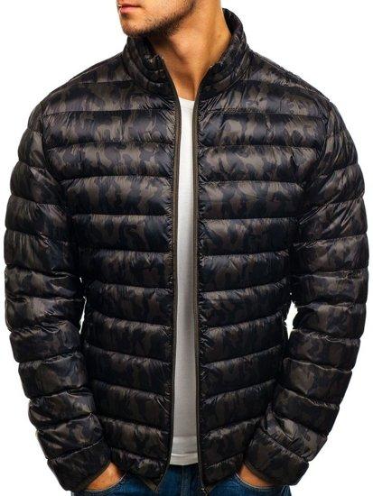 Maskáčovo-khaki pánská sportovní zimní bunda Bolf 3117