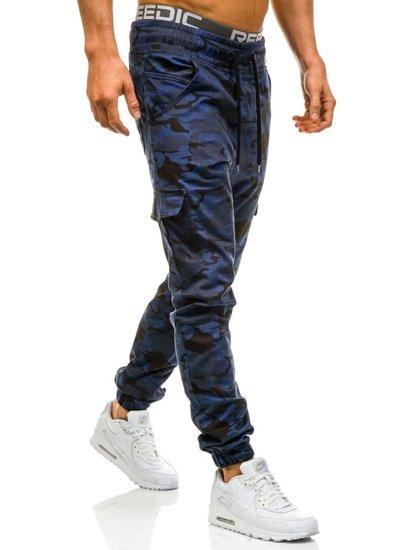 Maskáčovo-tmavě modré pánské jogger kapsáče Bolf 0404