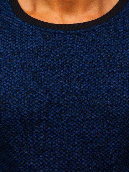 Modrá pánská mikina bez kapuce Bolf 2001-3