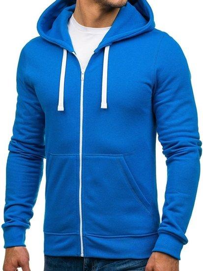 Modrá pánská mikina s kapucí Bolf 03