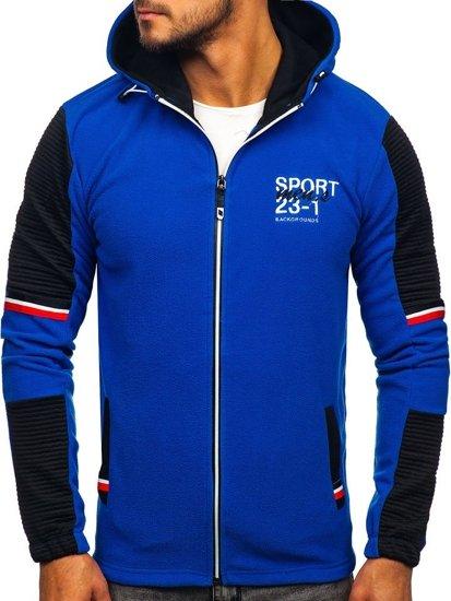 Modrá pánská mikina s kapucí Bolf YL006