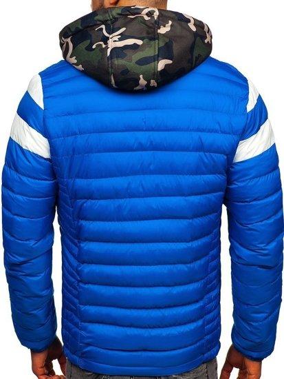Modrá pánská sportovní zimní bunda Bolf 50A462